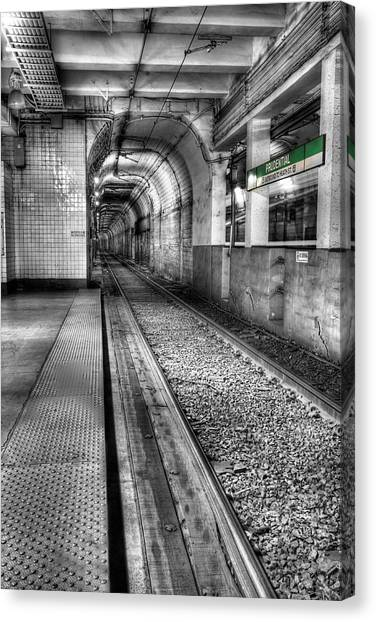 Light Rail Canvas Print - The Green Line by JC Findley