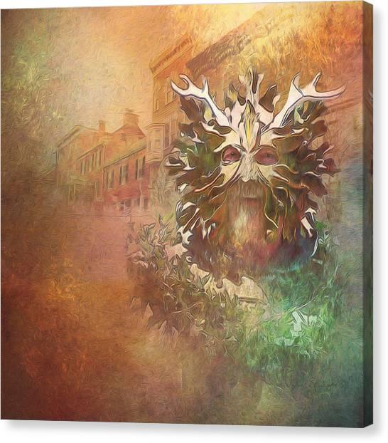 The Green Man Cometh Canvas Print