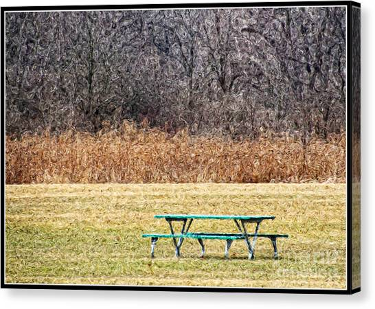 Picnic Tables Canvas Prints Page Of Fine Art America - Picnic table print
