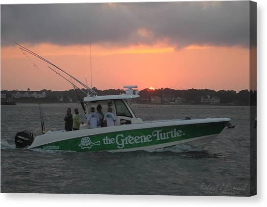 The Greene Turtle Power Boat Canvas Print