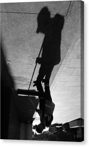 The Grim Sweeper Canvas Print