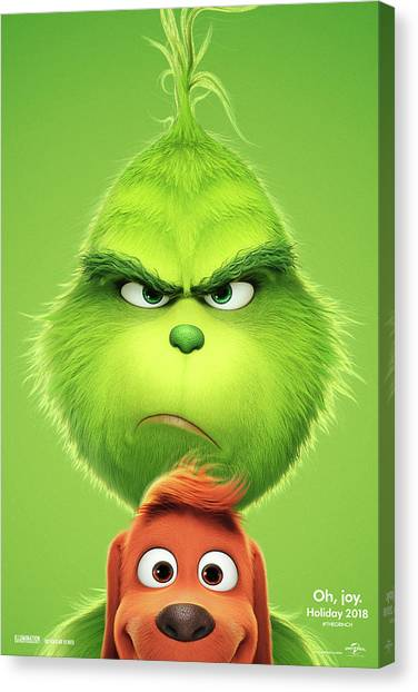 Grinch Canvas Print - The Grinch 2018 A by Movie Poster Prints