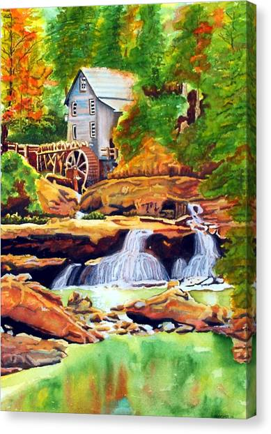 The Grist Mill Canvas Print by Gerald Carpenter