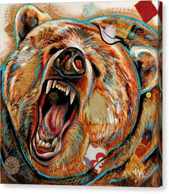 The Grizzly Bear Canvas Print