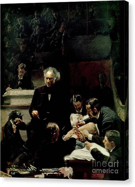 Health Care Canvas Print - The Gross Clinic by Thomas Cowperthwait Eakins