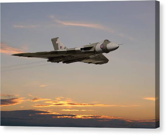 Vulcans Canvas Print - The Guardian by Pat Speirs