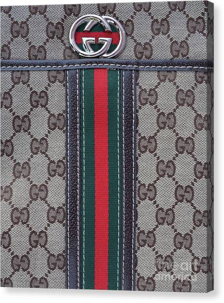 Birthday Gift Canvas Print - The Gucci Monograms by To-Tam Gerwe