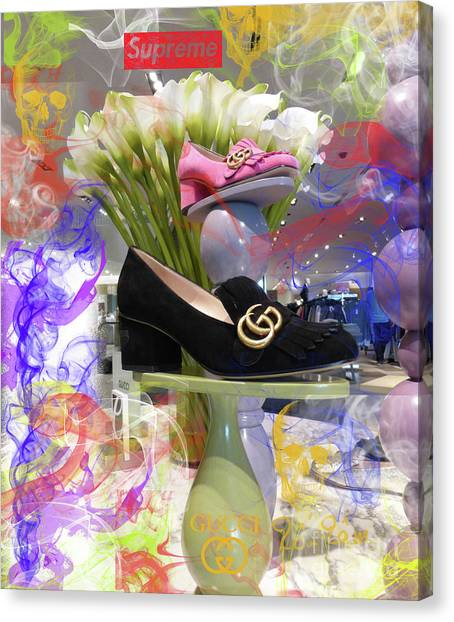 Jimmy Choo Canvas Print - The Gucci Supreme Shoe 4 by To-Tam Gerwe