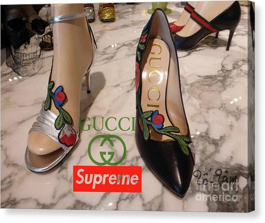 Jimmy Choo Canvas Print - The Gucci Supreme Shoes 5 by To-Tam Gerwe