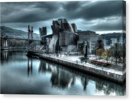 The Guggenheim Museum Bilbao Surreal Canvas Print