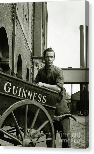 Distillery Canvas Print - The Guinness Man by Jon Neidert