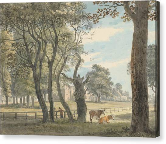 Hyde Park Canvas Print - The Gunpowder Magazine, Hyde Park by Paul Sandby