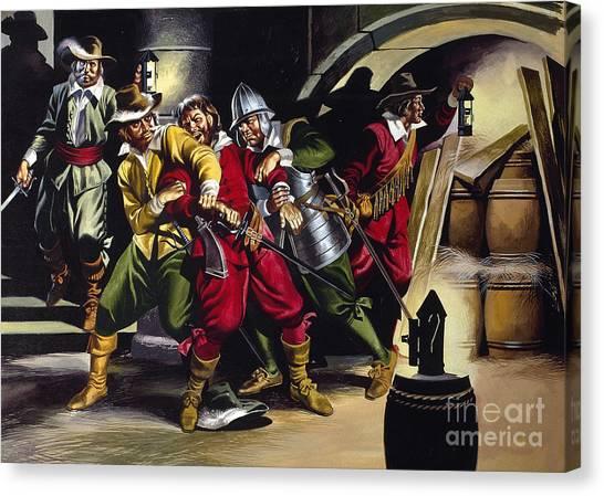 Vault Canvas Print - The Gunpowder Plot by Ron Embleton