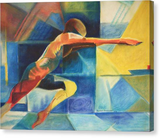 The Gymnast  Canvas Print by Benedict Olorunnisomo