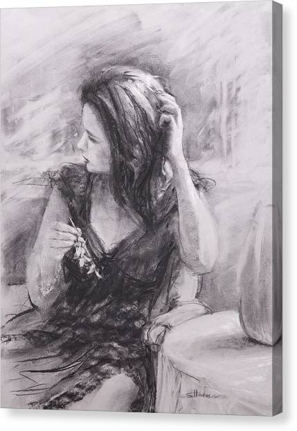Boudoir Canvas Print - The Hairpin by Steve Henderson