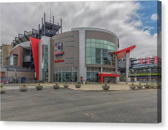 New England Revolution Canvas Print - The Hall At Patriot Place by Brian MacLean