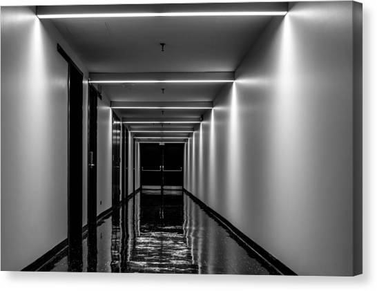 University At Buffalo University At Buffalo Canvas Print - The Hallway by Ray Sheley