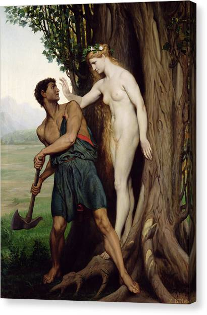 Axes Canvas Print - The Hamadryad by Emile Bin