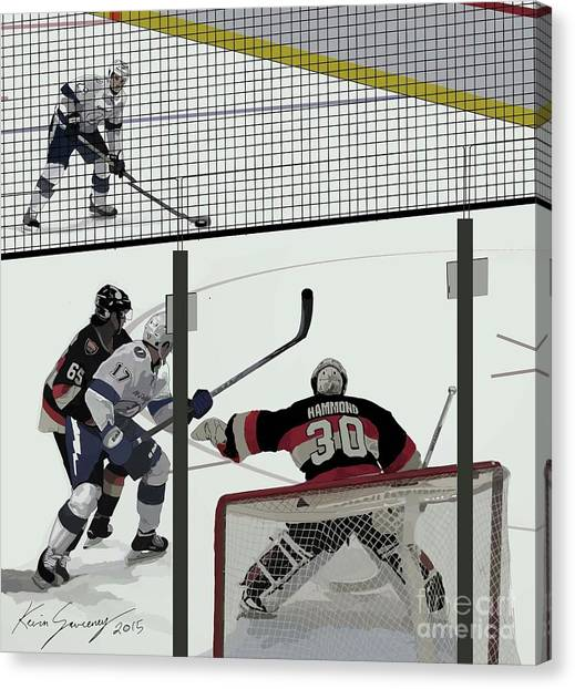 Ottawa Senators Canvas Print - The Hamburglar Hammond by Kevin Sweeney