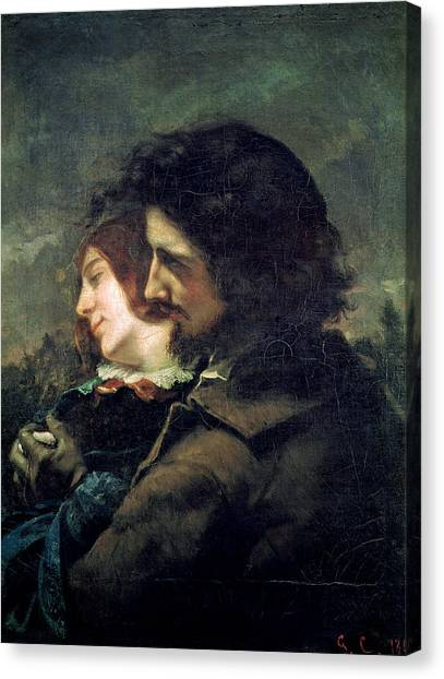 Gustave Canvas Print - The Happy Lovers by Gustave Courbet