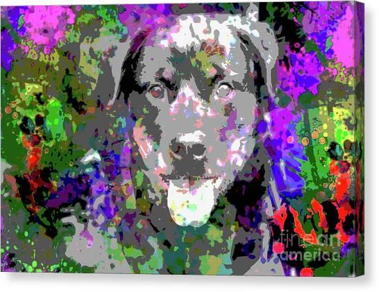 Rottweilers Canvas Print - The Happy Rottweiler by Jon Neidert