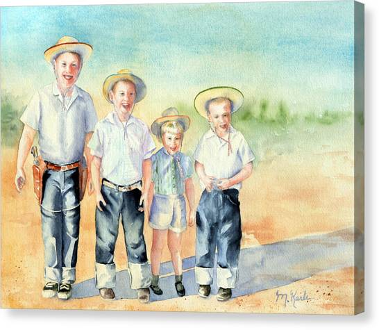 The Happy Wranglers Canvas Print