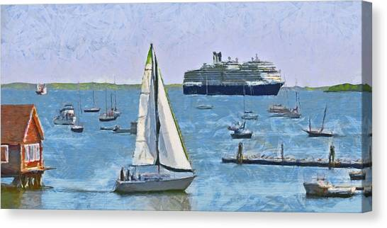 The Harbor At Rockland Maine Canvas Print