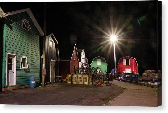 Canvas Print featuring the photograph The Harbour At French River, Pei. by Rob Huntley