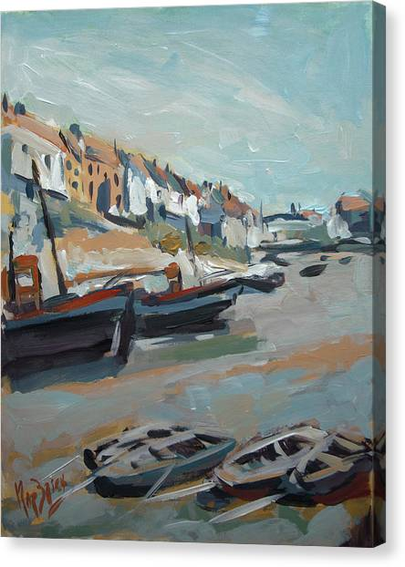 Briex Canvas Print - The Harbour Of Mevagissey by Nop Briex
