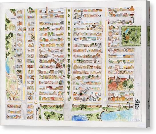 The Harlem Map Canvas Print