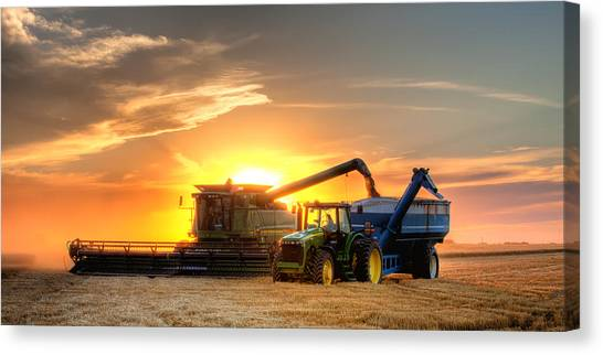 John Deere Canvas Print - The Harvest by Thomas Zimmerman