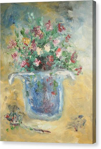 The Hat Vase Canvas Print by Edward Wolverton