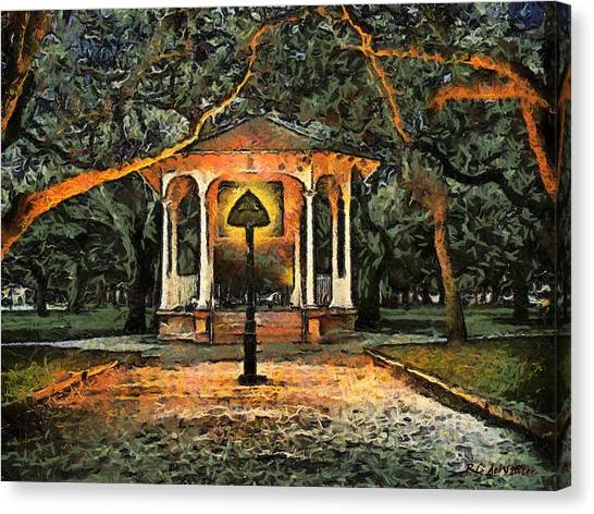 The Haunted Gazebo Canvas Print