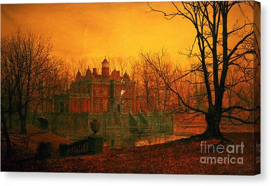 The Haunted House Canvas Print - The Haunted House by John Atkinson Grimshaw