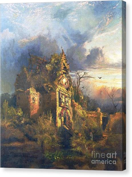 Haunted House Canvas Print - The Haunted House by Thomas Moran