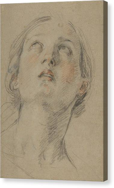 Baroque Canvas Print - The Head Of A Woman Looking Up by Guido Reni