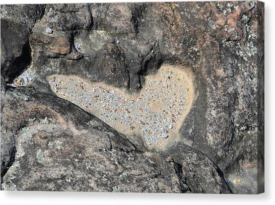 The Heart In Stone Canvas Print by rd Erickson