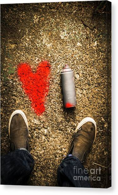 Casual Canvas Print - The Heart Of A Vandal by Jorgo Photography - Wall Art Gallery