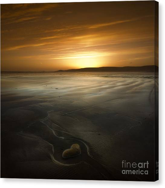 The Heart Of Stone Canvas Print by Angel Ciesniarska