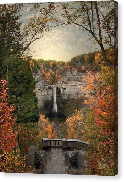 The Heart Of Taughannock Canvas Print