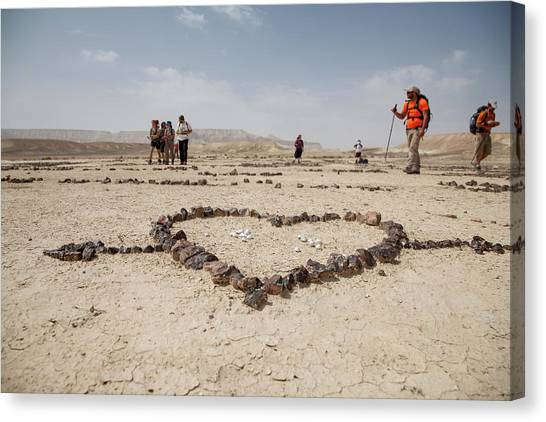 The Heart Of The Desert Canvas Print