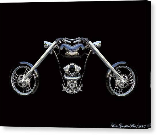 The Heart Of The Harley Canvas Print by Wayne Bonney