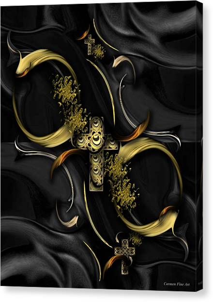 Canvas Print featuring the digital art The Heavenly Song by Carmen Fine Art