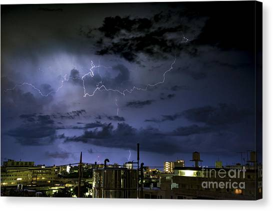 The Heavens Attack Canvas Print