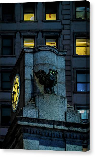 The Herald Square Owl Canvas Print