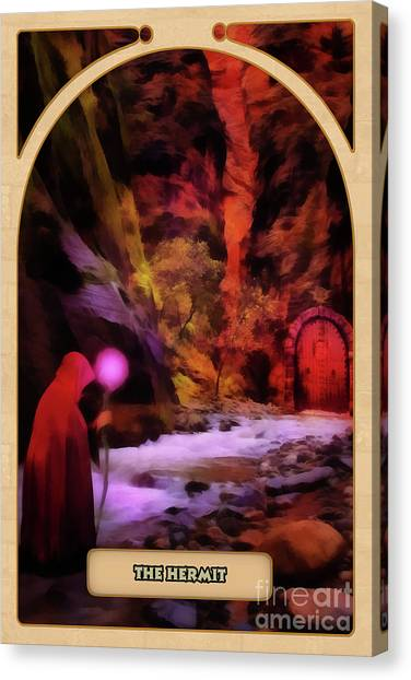 Astrology Canvas Print - The Hermit by John Edwards