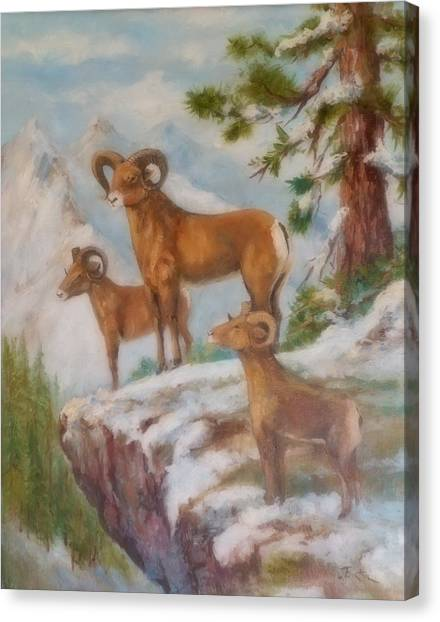 Lynn Burton Canvas Print - The High Point by Lynn Burton