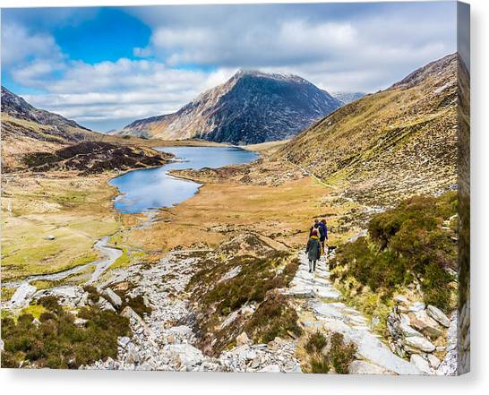 Canvas Print featuring the photograph The Hike Back Down by Nick Bywater