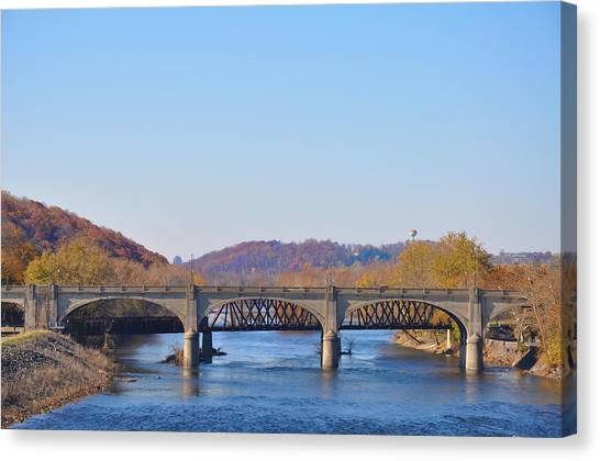 The Hill To Hill Bridge - Bethlehem Pa Canvas Print
