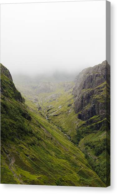 Canvas Print featuring the photograph The Hills Of Glencoe by Christi Kraft
